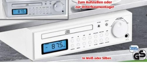 k chenradio mit cd kcd203 cd in weiss unterbauf higes. Black Bedroom Furniture Sets. Home Design Ideas