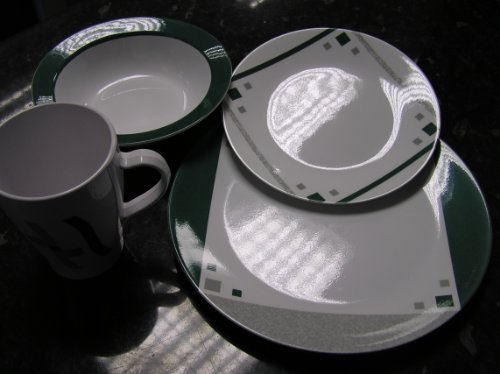Break-Resistant Melamine Tableware Set For 4