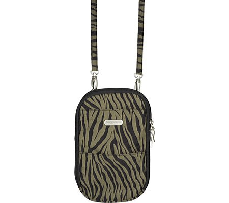 Baggallini Womens Pocket Bagg Shoulder Bag – Zebra Print