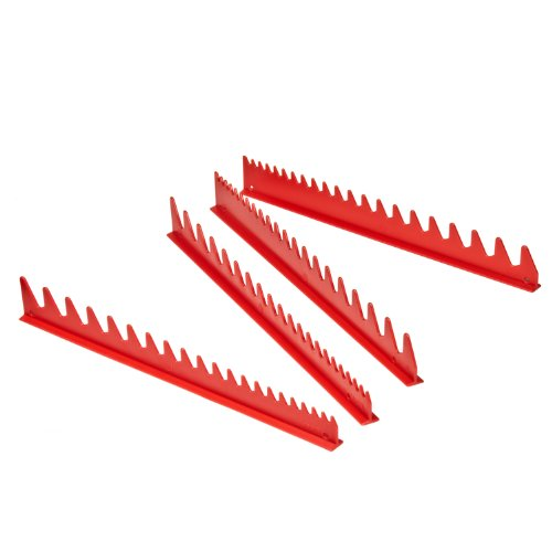 ERNST 6014M RED 40 WRENCH RAIL Magnetic (bottom) Rail Organizer