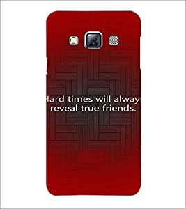 PrintDhaba Quote D-3926 Back Case Cover for SAMSUNG GALAXY A3 (Multi-Coloured)