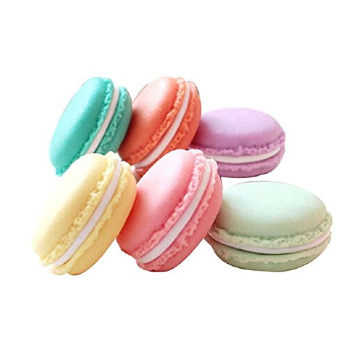 QTMY 6 PCS Colorful Mini Macaron Shape Storage Box Candy Jewelry Organizer Pill Case Container