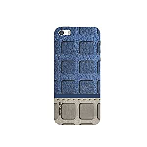 iSweven printed iph5s_3270 Blue and Gray Wall Design Multicolored Matte finish Back case cover for Apple iPhone 5s