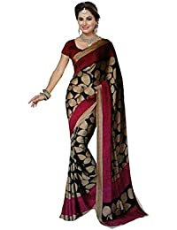 Sarees (Women's Clothing Saree For Women Latest Design Wear Sarees New Collection In BLACK Coloured BHAGALPURI...
