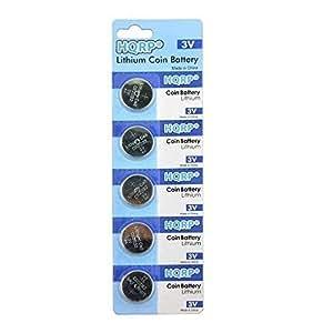 HQRP 5 Piles bouton lithium CR2032 3V pour Omron podomètres HJ-203BL, HJ-203PK, HJ-112, HJ-720ITC