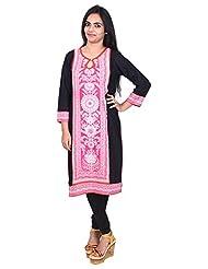 Aavran Women's Viscose Regular Fit Kurta - B015J5CSBO