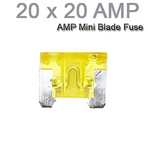 Auto-LKW-Motorrad-Auto Mini Sicherungen Flachsicherung Sortiment 20PCS X 20AMP