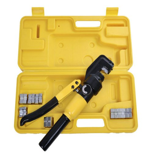 Wire Terminal Battery Cable Crimper 8 Ton 9 Dies Hydraulic Powered