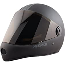Predator DH6 Helmet Matte Black W/Grey Stripes Longboard Helmet