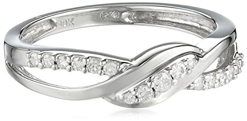 10k White Gold Diamond Ring (1/6 cttw, H-I Color, I3 Clarity), Size 7 Amazon Curated Collection B005P8BFC4