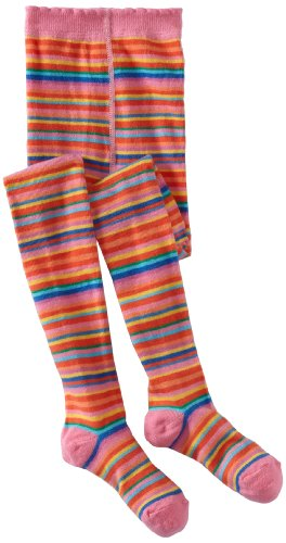 Country Kids Little Girls' Jelly Bean Stripe Tights, Carnation, 1-3