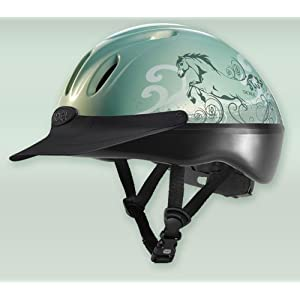 Troxel Spirit Mint Dreamscape Green Riding Helmet SMALL