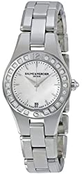 Baume et Mercier Linea Silver Dial Stainless Steel Ladies Watch MOA10078
