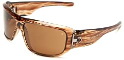 Spy Optic Lacrosse Polarized Sunglasses,Brown Stripe Tortoise Frame/Bronze Lens,one size