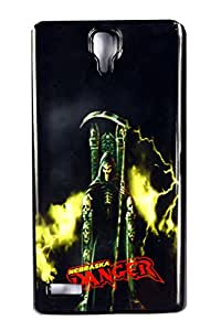 dk Danger with black printed back cover for mi note 4G