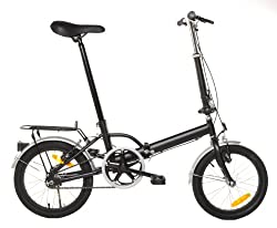 Omega Folding Bike Foldable Bicycle with Rack & Fenders from Vilano