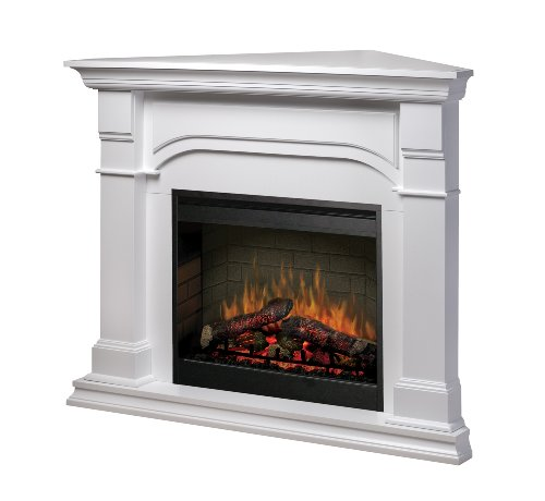 Dimplex SMP-195C-W-ST Symphony Full-Size Electric Corner Fireplace, White photo B002A0VH5A.jpg