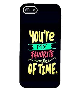 printtech Waste Of Time Quate Back Case Cover for Apple iPhone 5::Apple iPhone 5S