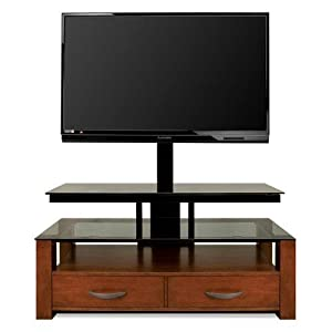 Bell'O TPC361 AV System Up To 55-Inch or 125 lbs (Dark Cherry)