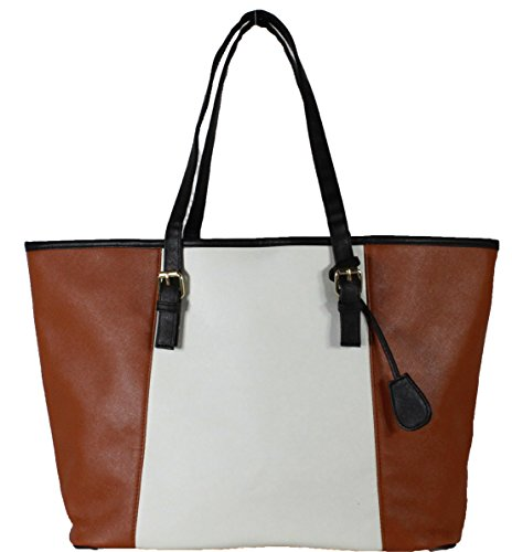 Women's Ladies Leather Style Large Tote Bag Shoulder