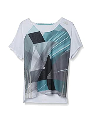 adidas Camiseta Manga Corta AZ S/S W (Blanco / Negro / Verde)