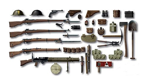 ICM Models World War I British Infantry Weapon/Equipment Kit (World War 1 Weapons compare prices)
