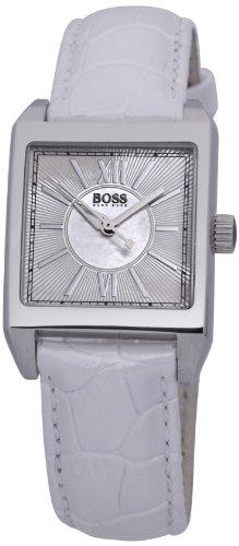 Hugo Boss Ladies Classic 1502238 - Reloj analógico de cuarzo para mujer, correa de cuero color blanco