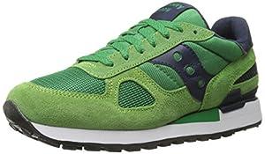 Saucony Originals Men's Shadow Original Classic Retro Running Shoe, Green/Blue, 10 M US