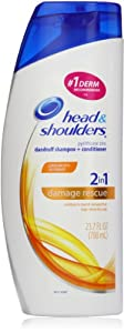 Head & Shoulders Damage Rescue 2-In-1 Dandruff Shampoo And Conditioner 23.7 Fl Oz (packaging may vary)