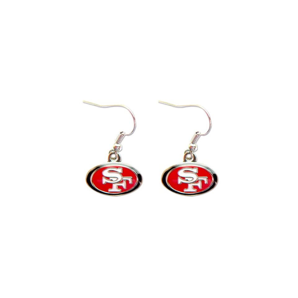 San Francisco 49ERS Dangle Logo Earring Set Charm Gift NFL