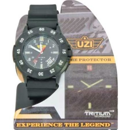Men's Uzi Defender Rubber Strap Tritium Watch