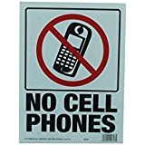 """9"""" X 12"""" """"No Cell Phone"""" Sign"""