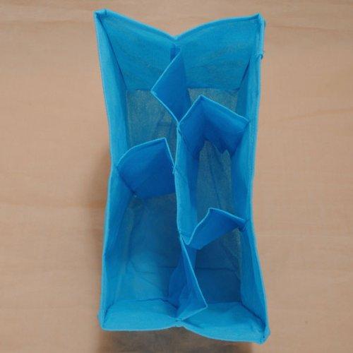 Newborn Infant Toddler Baby Portable Travel Diaper Nappy Changing Bag Water Milk Bottle Storage Organizer Insert Mama Diaper Bag,Blue,L front-1074498