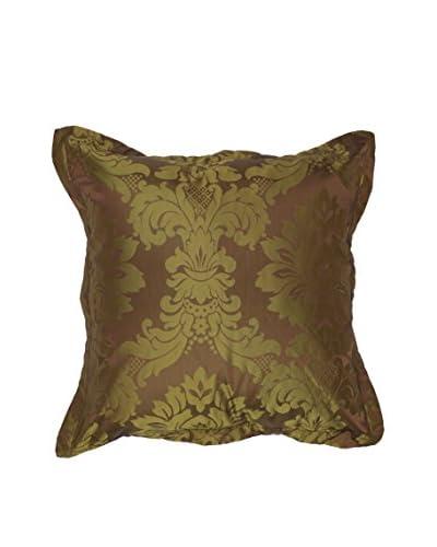 Surya Damask Pillow, Brown