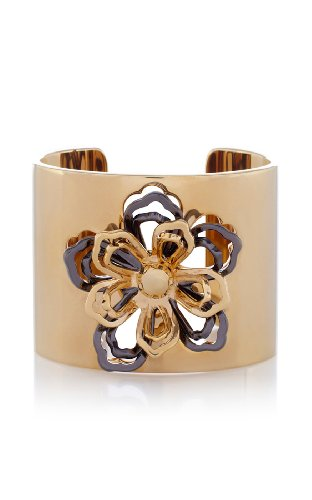 Cutwork flower statement cuff