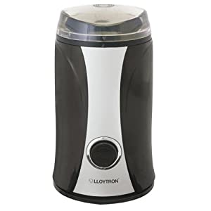 Lloytron Kitchen Perfected Spice/ Coffee Grinder, 150 Watt, Black/ Silver