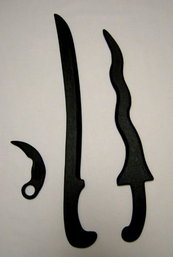 Sword Training Golok & Kris Karambit Knife Pencak Silat Set Kali *NOT FOR CONTACT TRAINING*