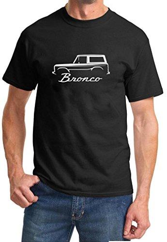 1966-77 Ford Bronco Classic Outline Design Tshirt large black