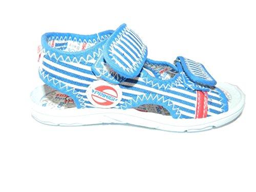 PRIMIGI sandali scarpe bimbo colore righe bianco/royal funky (26)
