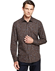 Autograph Luxury Pure Cotton Floral Shirt