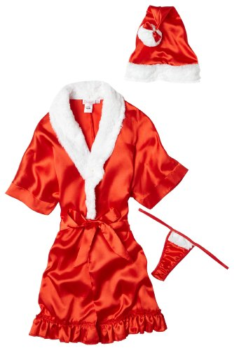 Dreamgirl Women's Baby it's Cold Outside (Santa Robe And Hat) - 6141