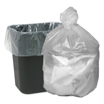 High Density Waste Can Liners, 7-10gal, 5mic, 24 x 23, Natural, 1000/Carton, Sold as 1 Carton