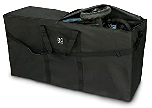 JL Childress Standard and Dual Stroller Travel Bag, Black
