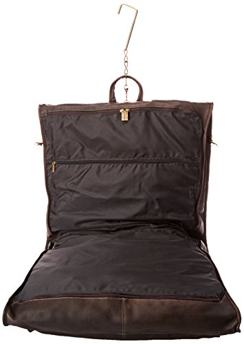 David King & Co. 42 Inch Garment Bag Deluxe, Cafe, One Size (Travel Garment Bag Leather compare prices)