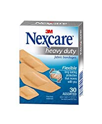 Nexcare Bandages, Heavy Duty, Flexible Fabric, Assorted 30 bandages