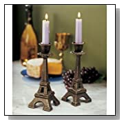 Eiffel Tower Statue Set of 2 Candle Holders