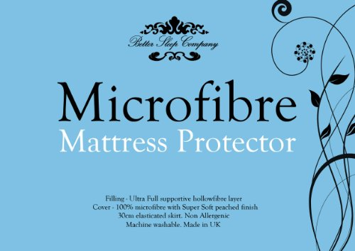 The Bettersleep Company Brand - Hotel Quality Supersoft Microfibre Mattress Protector Double Bed - Soft Diamond Quilted & Anti Allergenic Extra Comfort