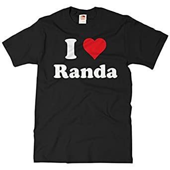 .com: ShirtScope I Love Randa T shirt I Heart Randa Tee: Clothing