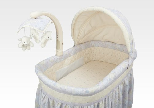 Simmons Paisley Park Deluxe Gliding Bassinet front-67724