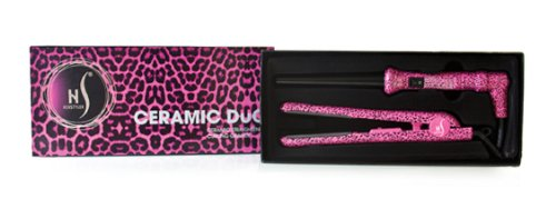 Herstyler Ceramic Duo Pink Leopard Straightner & Curling Grande